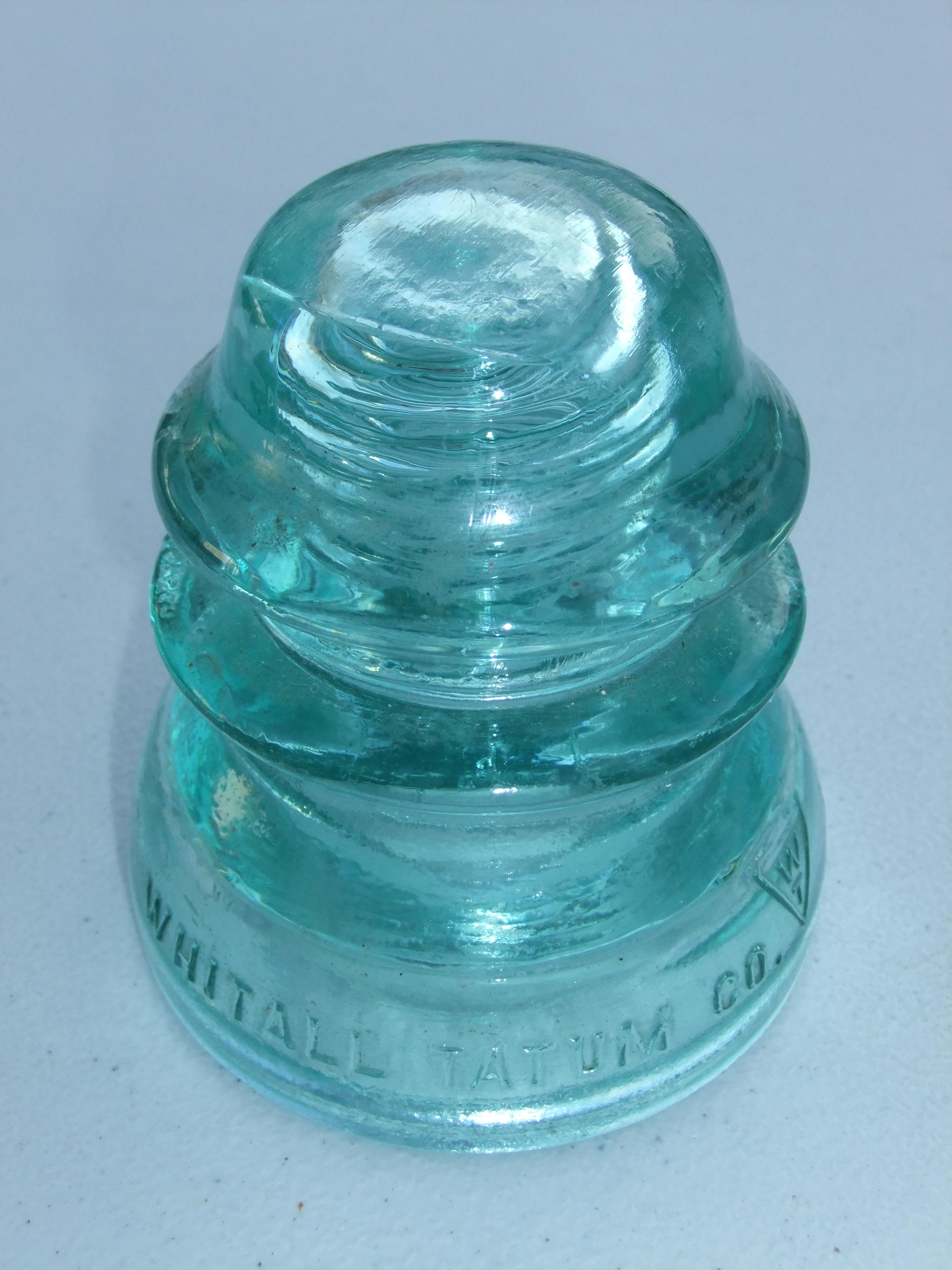 Whithall Tatum Aqua Blue Green Glass Insulator no 10